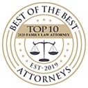 Best of the best top 10 top family law attorney Est 2019 attorneys