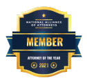 National alliance of attorneys Member attorney of the year 2021